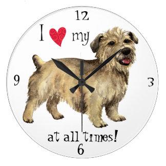 Amo mi cañada de Imaal Terrier Reloj Redondo Grande