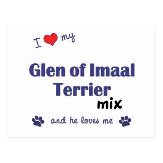 Amo mi cañada de la mezcla de Imaal Terrier (el Tarjetas Postales