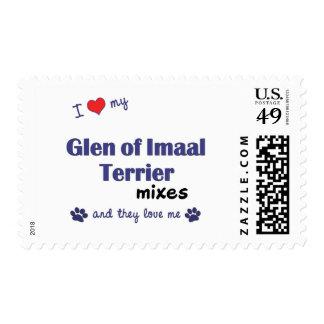 Amo mi cañada de las mezclas de Imaal Terrier (los Estampillas
