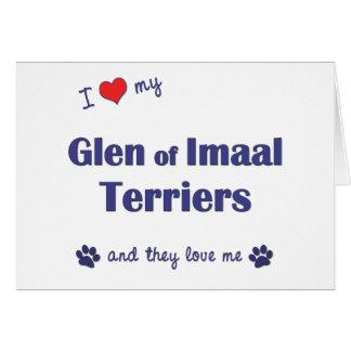 Amo mi cañada de los terrieres de Imaal (los perro Tarjetas