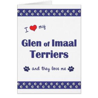 Amo mi cañada de los terrieres de Imaal (los perro Tarjeta Pequeña