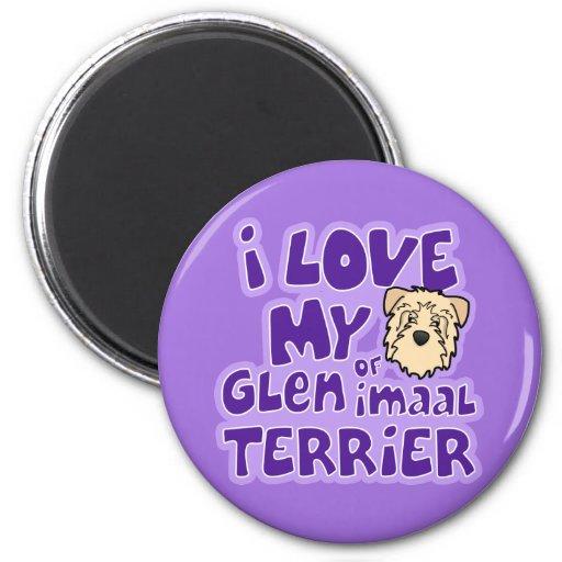 Amo mi cañada de trigo de Imaal Terrier Imanes