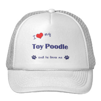 Amo mi caniche de juguete (el perro masculino) gorra