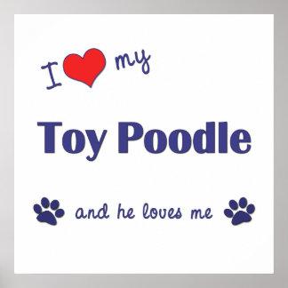 Amo mi caniche de juguete el perro masculino impresiones