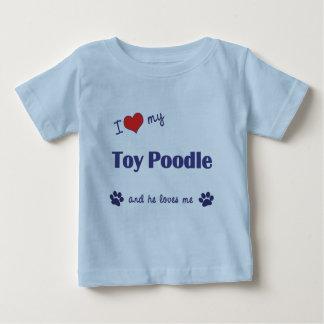 Amo mi caniche de juguete (el perro masculino) playera