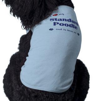 Amo mi caniche estándar (el perro masculino) playera sin mangas para perro