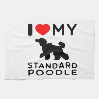 Amo mi caniche estándar toallas de cocina