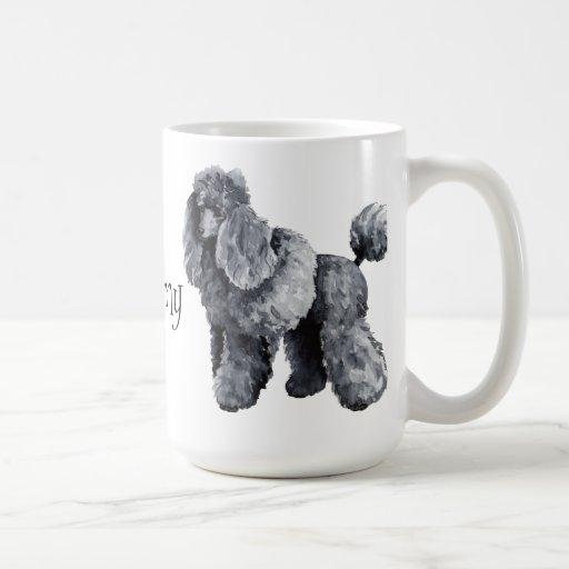 Amo mi caniche miniatura tazas