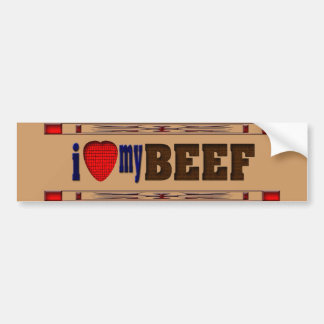 Amo mi carne de vaca pegatina para auto