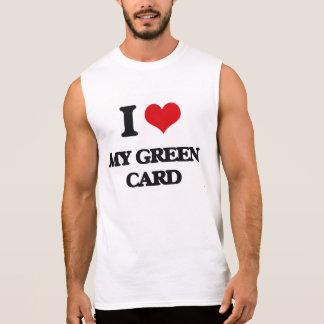 Amo mi carta verde camisetas sin mangas
