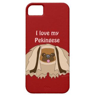 Amo mi caso de encargo del iPhone 5 del perro de P iPhone 5 Cárcasas