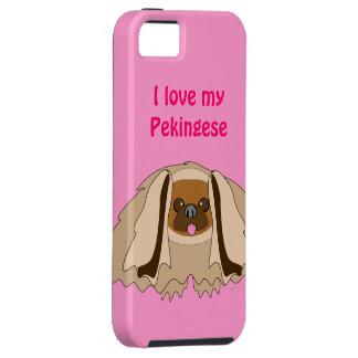 Amo mi caso de encargo del iPhone 5 del perro de P iPhone 5 Case-Mate Protectores