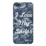 Amo mi caso de IPhone 4 del marinero iPhone 5 Protectores