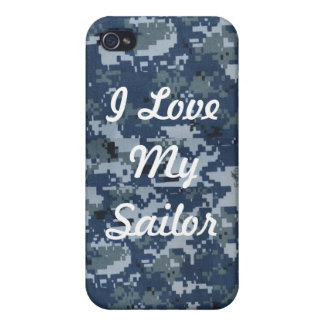 Amo mi caso de IPhone 4 del marinero iPhone 4 Fundas