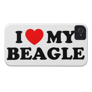 Amo mi caso del iPhone 4/4S del beagle Funda Para iPhone 4 De Case-Mate