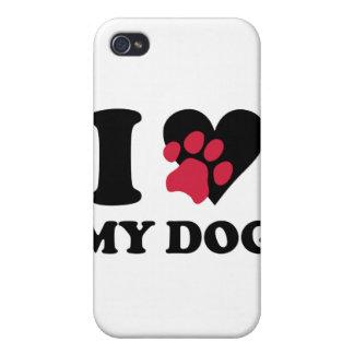 Amo mi caso del iPhone 4 del perro iPhone 4/4S Carcasa