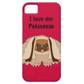 Amo mi caso del iphone 5 de la raza del perro de P iPhone 5 Case-Mate Cárcasas