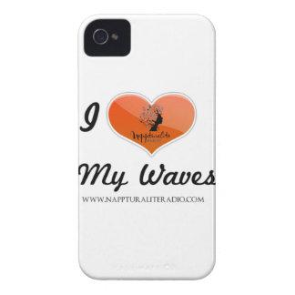 Amo mi caso del iPhone de las ondas iPhone 4 Cobertura