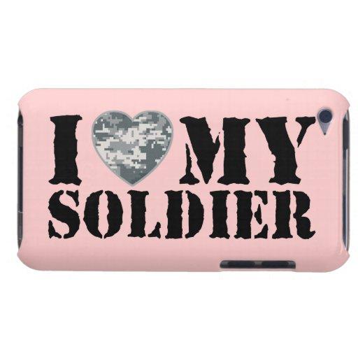 Amo mi caso del tacto de iPod del soldado iPod Touch Carcasas