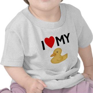 Amo mi caucho Ducky Camisetas