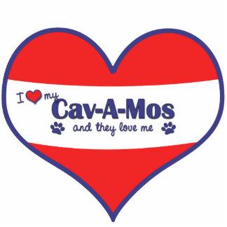 Amo mi Cav-UNO-MOS (los perros múltiples) Adorno Fotoescultura