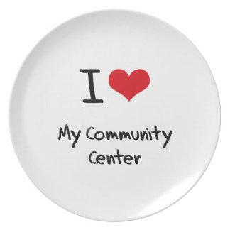 Amo mi centro de la comunidad platos para fiestas