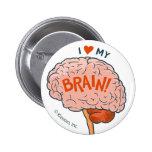 ¡Amo mi cerebro! Botón Pin