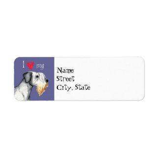 Amo mi Cesky Terrier Etiqueta De Remitente