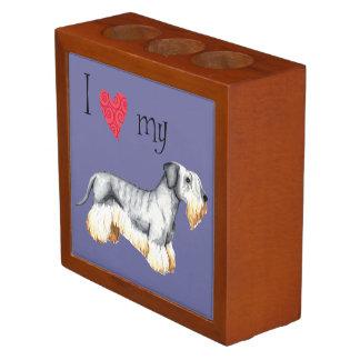 Amo mi Cesky Terrier Organizador De Escritorio