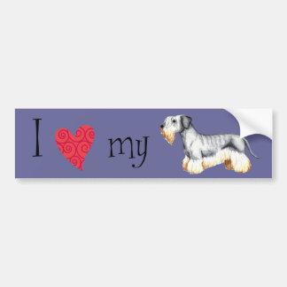 Amo mi Cesky Terrier Pegatina Para Auto