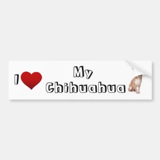 amo mi chihuahua (2) etiqueta de parachoque