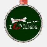 Amo mi CHIHUAHUA Adornos