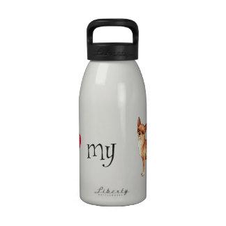 Amo mi chihuahua botellas de agua reutilizables