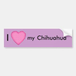 Amo mi chihuahua etiqueta de parachoque