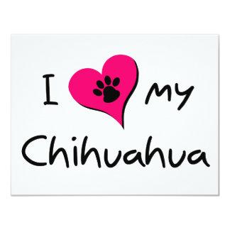 """Amo mi chihuahua invitación 4.25"""" x 5.5"""""""