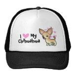 Amo mi chihuahua (la capa lisa) gorros