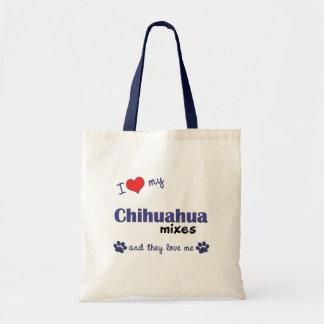 Amo mi chihuahua me mezclo los perros múltiples bolsa de mano