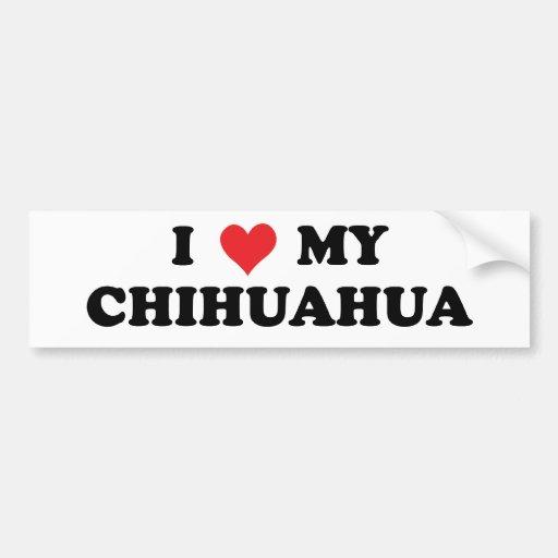 Amo mi chihuahua pegatina de parachoque