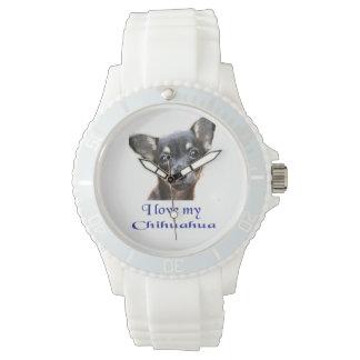 Amo mi chihuahua reloj de mano