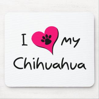 Amo mi chihuahua alfombrilla de ratón