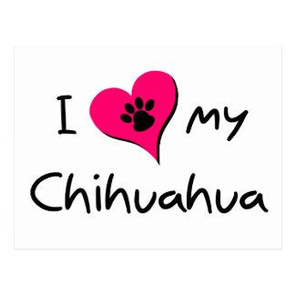 Amo mi chihuahua postales