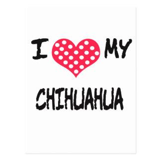 Amo mi chihuahua tarjetas postales