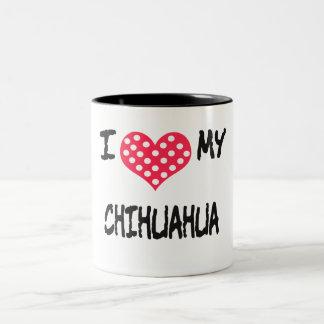 Amo mi chihuahua taza dos tonos