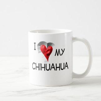 Amo mi chihuahua taza básica blanca