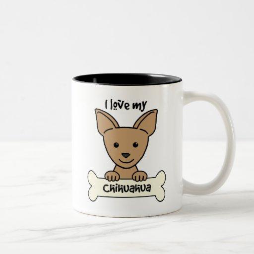 Amo mi chihuahua tazas