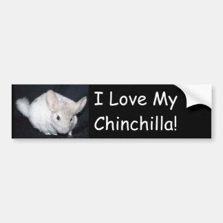 Amo mi chinchillah pegatina de parachoque