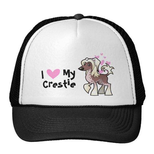 Amo mi chino Crested (sin pelo) Gorro