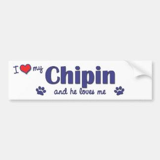 Amo mi Chipin (el perro masculino) Pegatina Para Auto