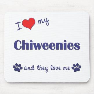 Amo mi Chiweenies (los perros múltiples) Tapete De Ratón