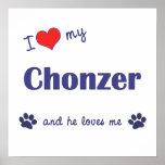 Amo mi Chonzer (el perro masculino) Posters